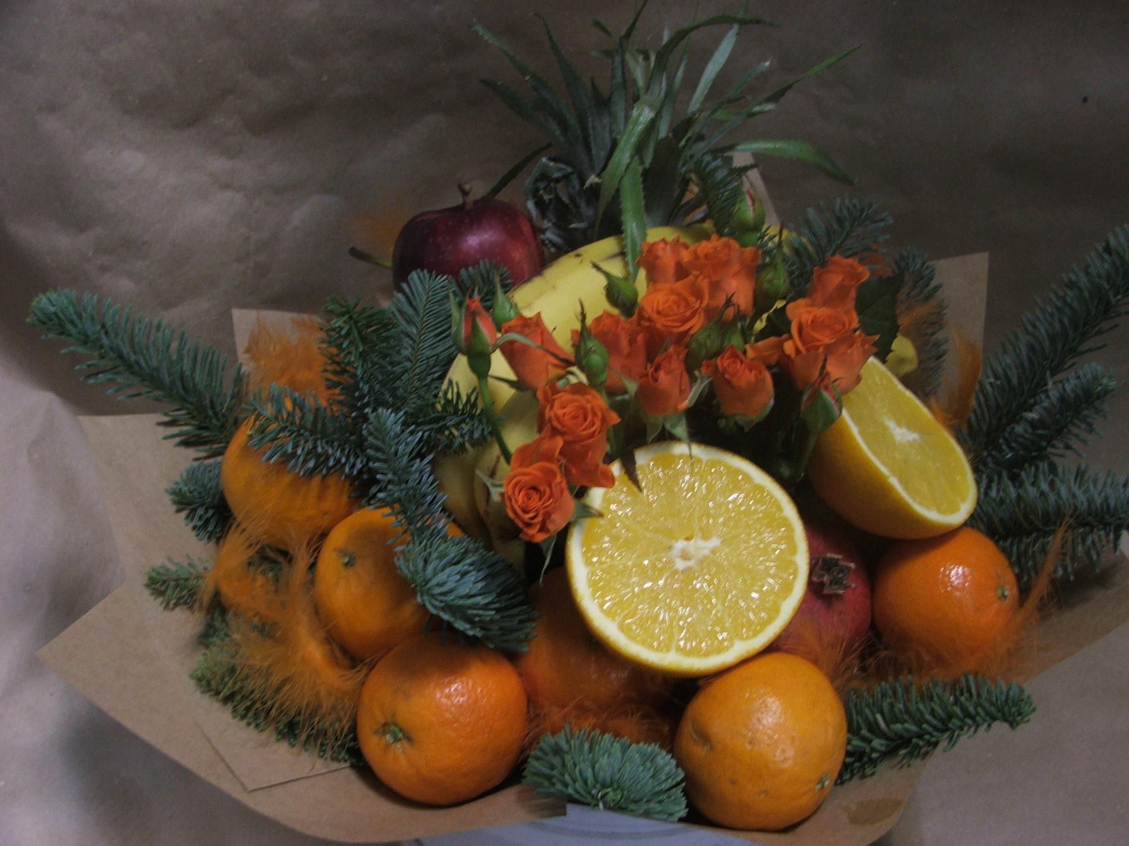 Букет из овощей и фруктов своими руками пошагово